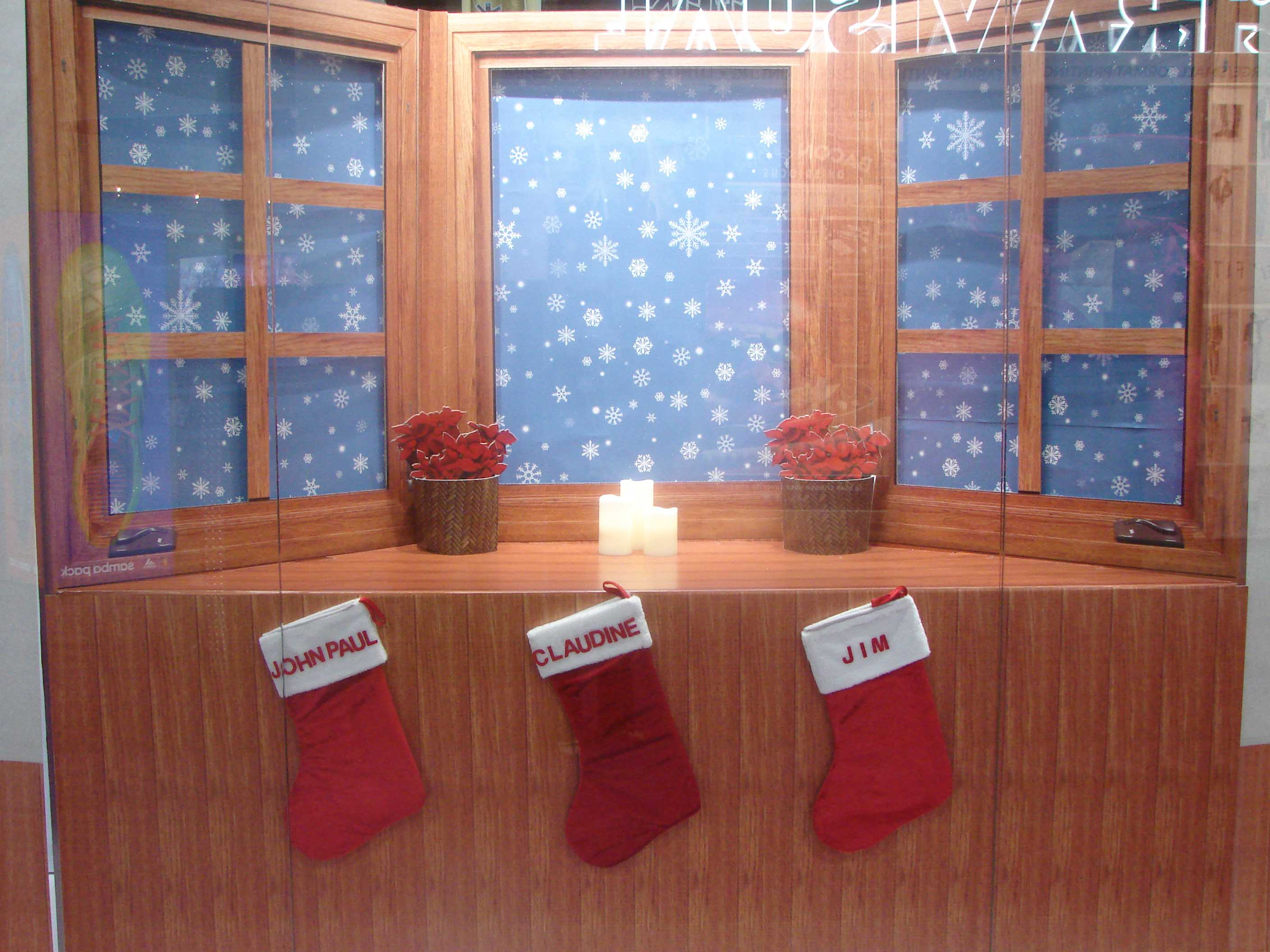 3D Bay Window/Falling Snow