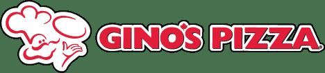 A photograph of Gino's Pizza logo