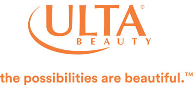 """A photograph of Ulta Beauty logo and tagline """"the possibilities are beautiful."""""""