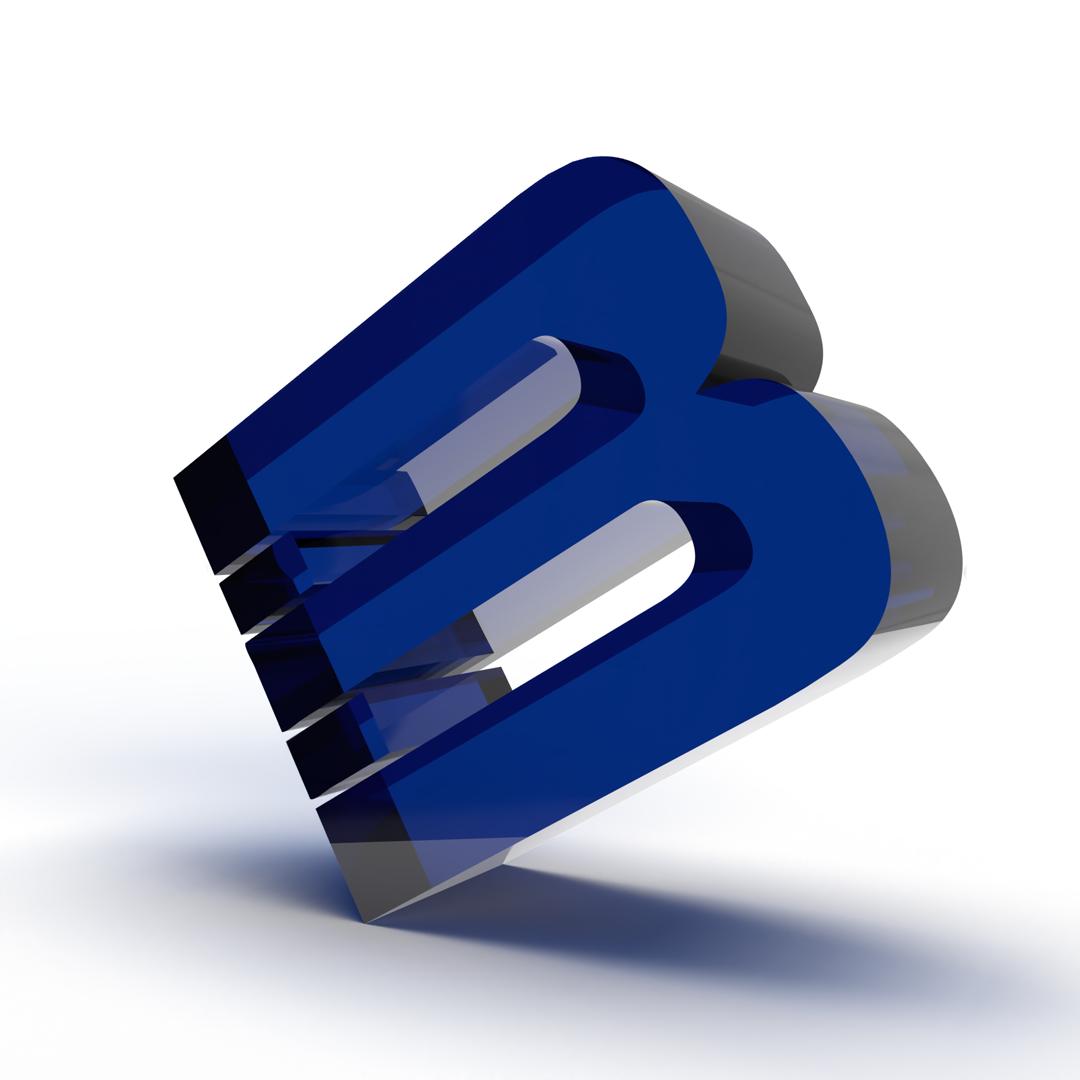 3D model of Brant In-Store letter 'B' logo