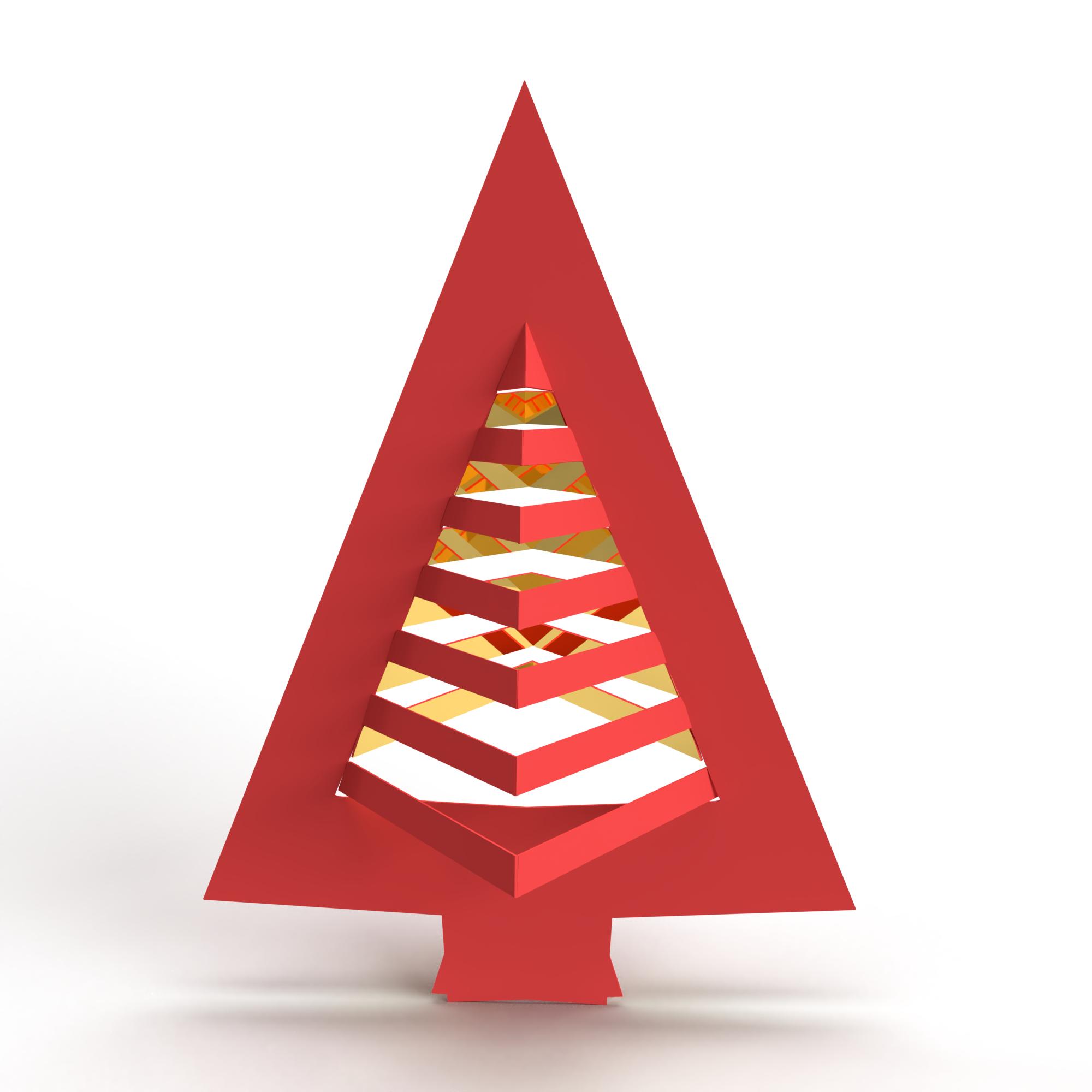A decorative Christmas tree concept.